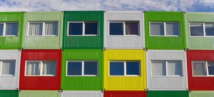 Vivre dans un container for Immeuble en container